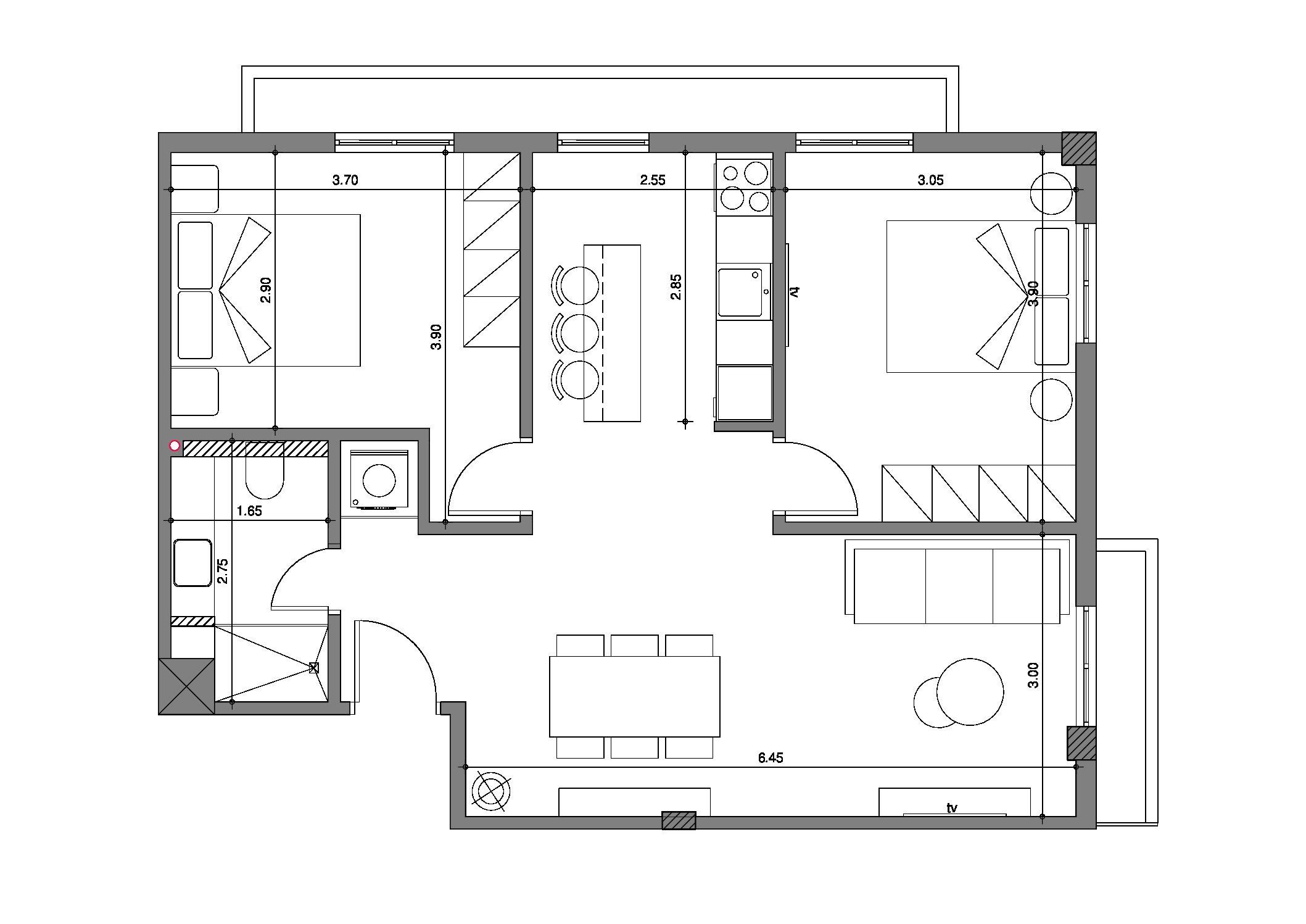 Apartment renovation   DELPHON   74 sq.m.   4th floor