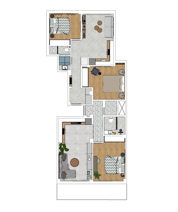 Apartment Renovation   Patriarchou Ioakeim 1   47 sq.m.   1st floor